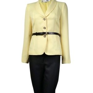 Tahari Suit - Yellow & Black - Size 12